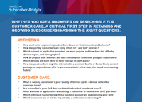 Subscriber Analytix Questions Guide