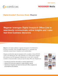 Digital Analytix Business Study Wegener