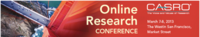 Casro Online Research Conference 2013