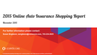 2015 Online Auto Insurance Shopping Report