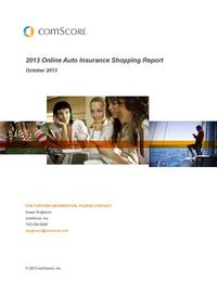 2013 Auto Insurance Shopping Report