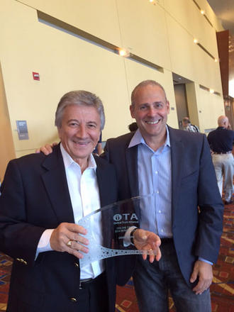 Gian Fulgoni receives the OTA Honor Roll award from OTA President Craig Spiezle