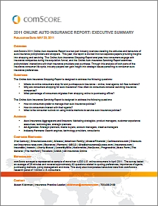 2011 Online Auto Insurance Report Cover